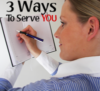 3 Ways To Serve You